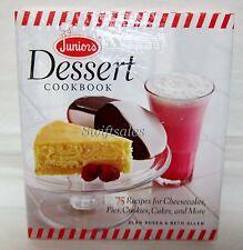 Junior's Dessert Cookbook 75 Recipes for Cheesecakes & More - New Sealed + Bonus