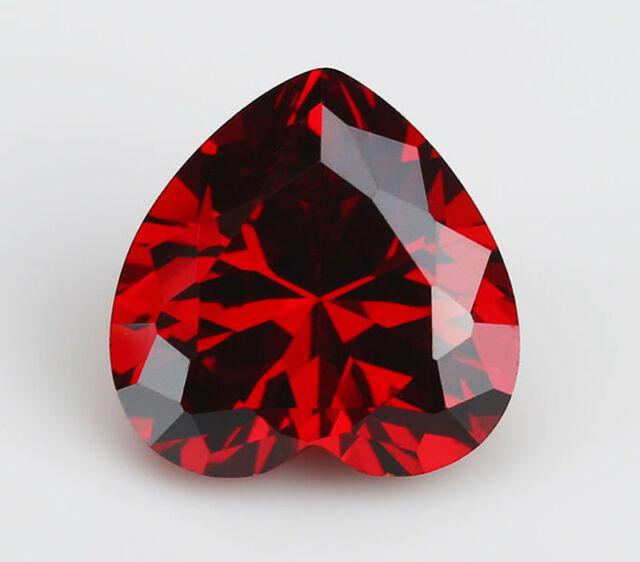Atractivo Corazón Rojo Rubí 2.72 CT 8X8mm Corte Facetado Vvs Piedra Suelta de China