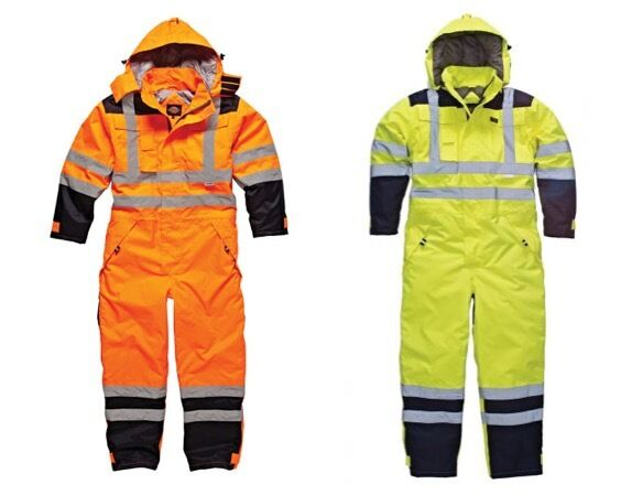 Dickies Workwear Alta Visibilidad Impermeable Seguridad Mono Mono SA7000