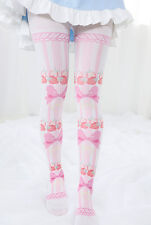 Kawaii Strawberry Bowknot Printing Japan Lolita Tights Pantyhose Socks Stockings