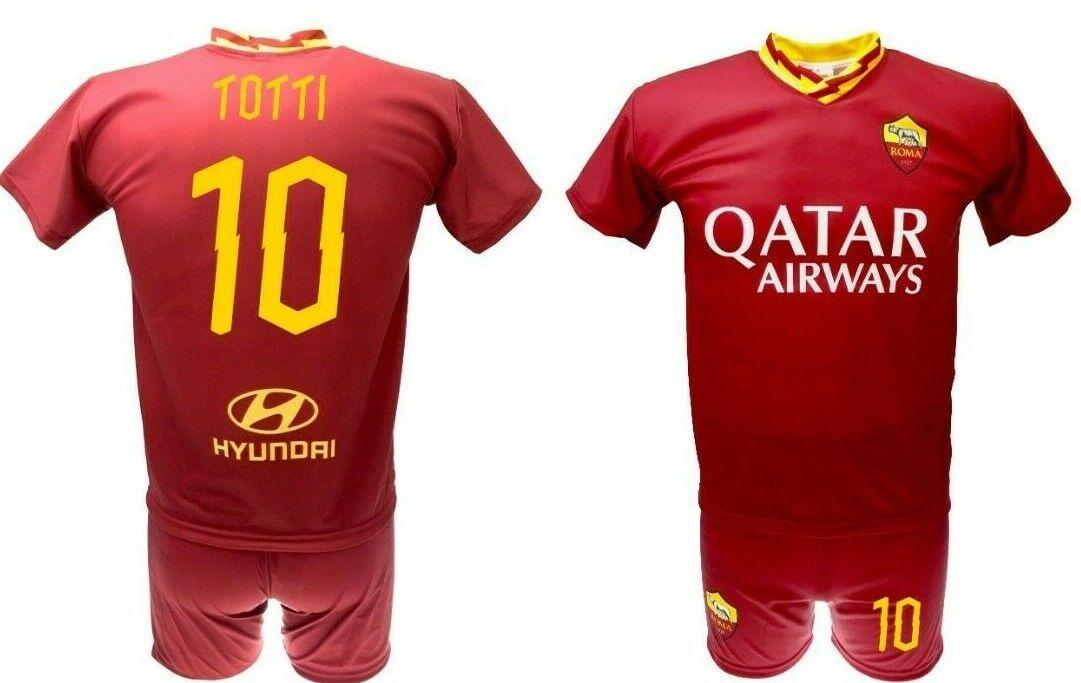 Maglia Totti Roma 2020  Pantaloncino ufficiale Completo Divisa 2019 AS Roma