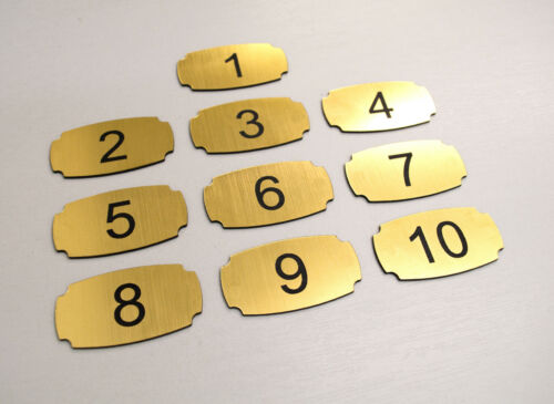 10 Adhesive Custom Laser Engraved Number Tags Door. Pub Locker Hotel Table