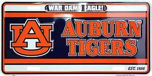 Auburn Tigers War Damn Eagle Metal Car License Plate Auto Tag Sign ... 208ae85ced11