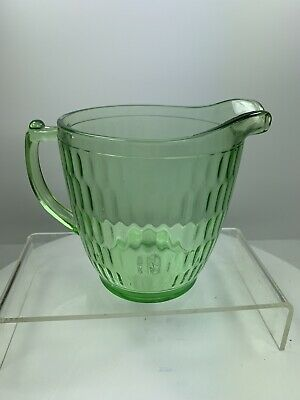 Green Optic Honeycomb 28 Oz Pitcher Teleflora Reissue 75 Years Depression Glass Ebay