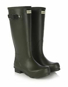 Genuine New Hunter Norris Field Men Dark Olive Wellington Boots UK sizes 6-12