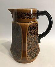 Jugendstil Kakaokanne Design Jug/Pitcher  um 1900 Braun/Schwarz Pottery Pitcher