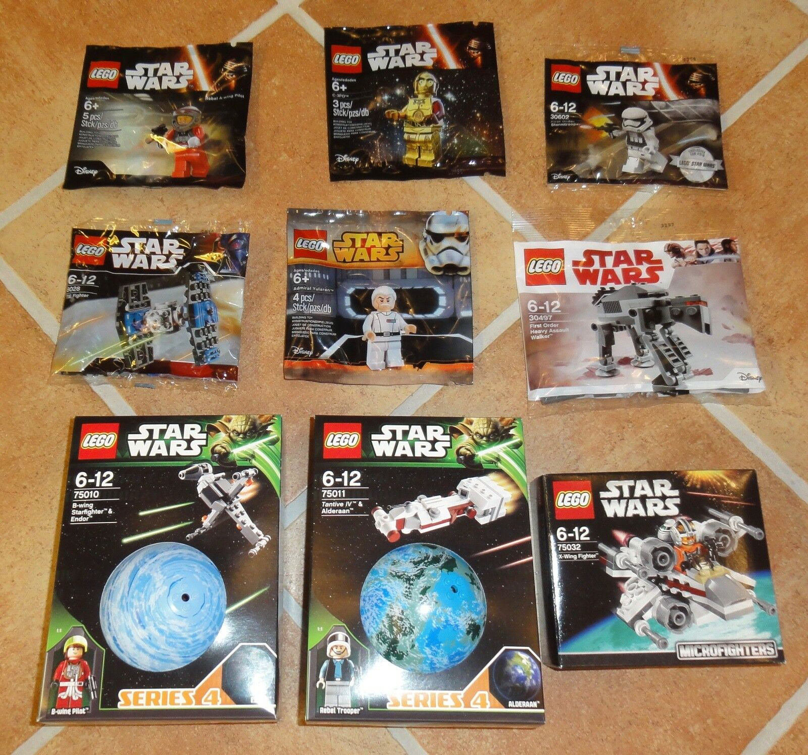 LEGO® Star Wars - 6 Polybags + 3 Sets new & sealed