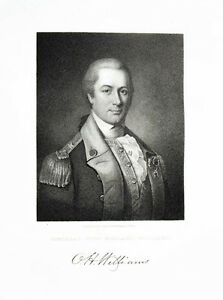 1835-Otho-Holland-Williams-Steel-Engraving-Portrait-by-Longacre-after-Peale