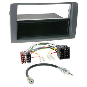 Ford KA Autoradio Einbauset DIN Radioblende SCHWARZ ISO Adapterkabel