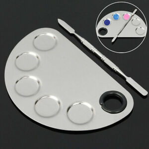 Pro-Cosmetic-Stainless-Steel-Palette-Spatula-Makeup-Face-Mixing-Foundation-Tool