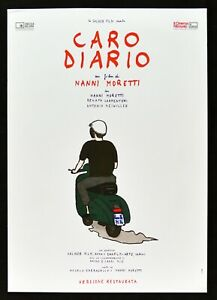 Werbeplakat Liebes Tagebuch Nanni Moretti Motorrad Vespa Piaggio Filmarchiv Film