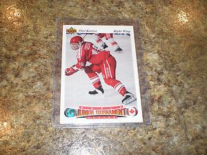 Paul-Kariya-1991-92-Upper-Deck-Czech-Rookie-card-50-HOF-Ducks-rare-UD-RC-Junior