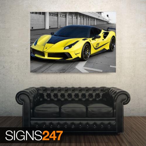 CAR POSTER Photo Poster Print Art * All Sizes 2017 FERRARI 488 GTB 4XX AB208