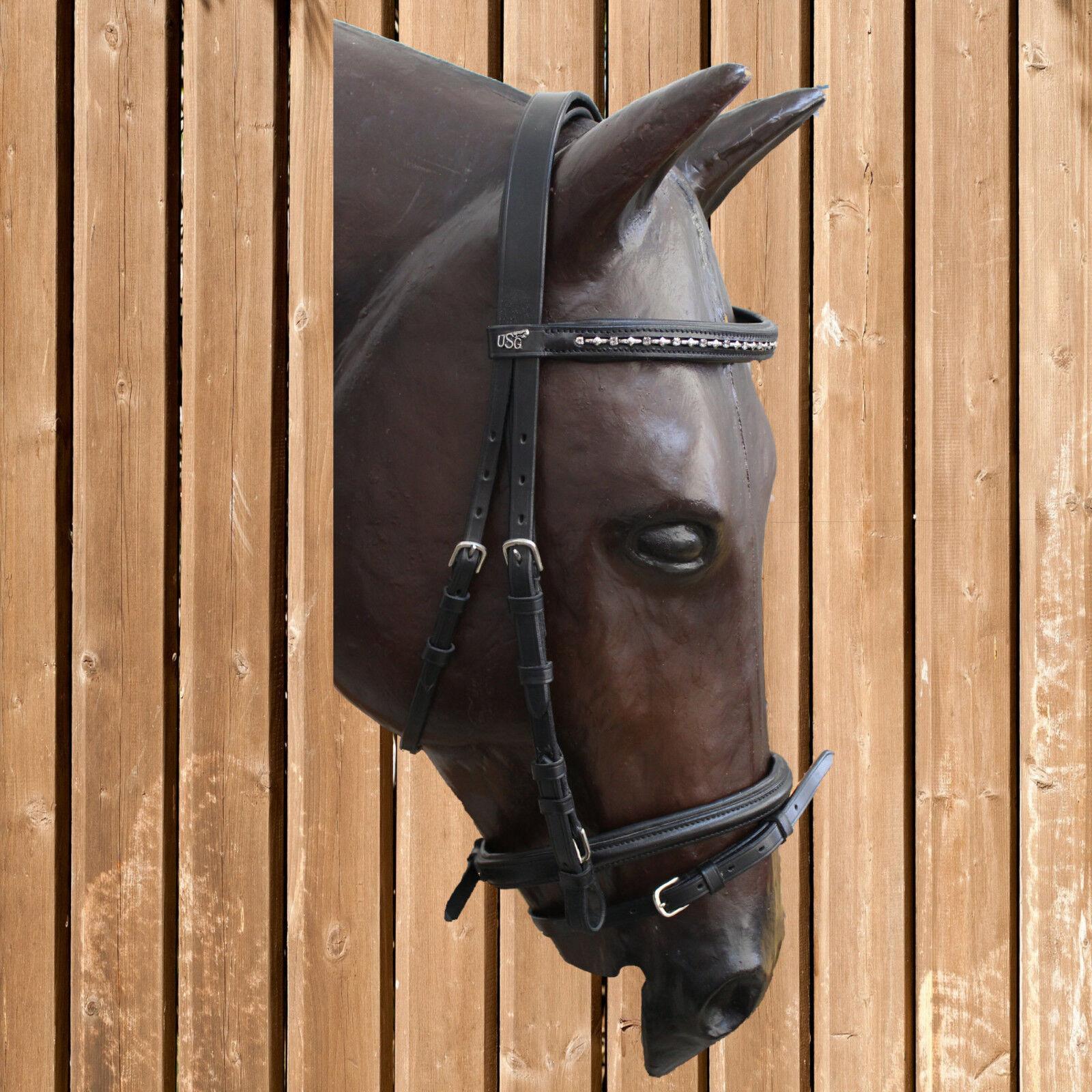 USG Pony Trense Strass, Ponytrense, Strass, Pony Trensenzaum, Pony Zaum, schwarz