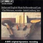 Clas Pehrsson - Music for Recorder and Lute CD Bis