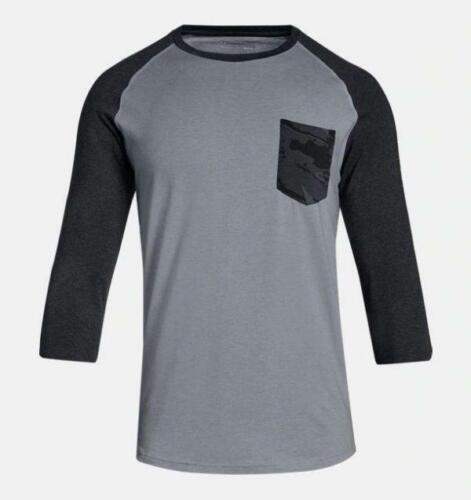 NWT Under Armour UA Camo Pocket Utility Mens/' Hunting Long Slv Shirt Black S M L