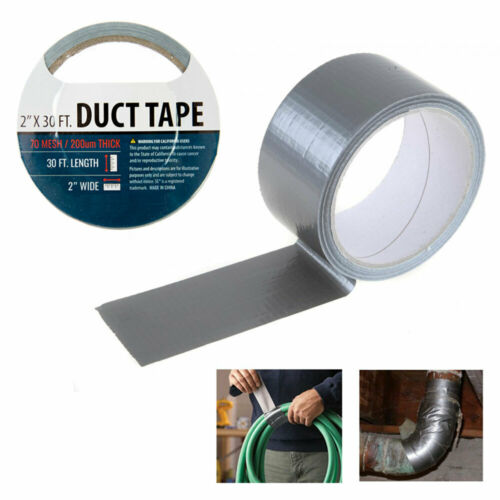 "1 Silver Duct Tape Roll 2/"" x 10 Yards Sealing Boxes Heavy Duty Arts Crafts New"