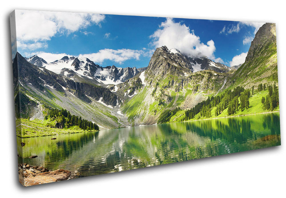 Lake Mountain  Landscapes SINGLE TOILE murale ART Photo Print