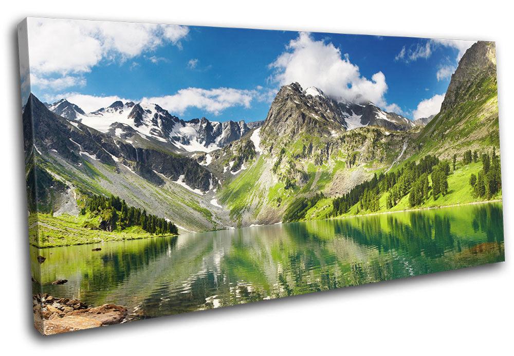 Lake Mountain  Landscapes SINGLE TOILE murale ART Photo Print