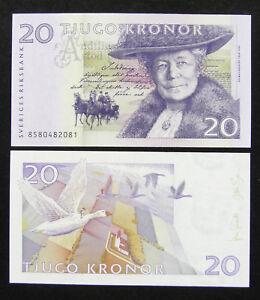 Sweden 20 Kronor p-63a 1998 UNC Banknote