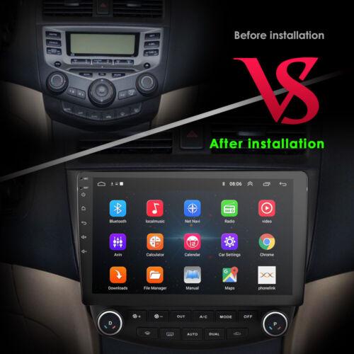 "10.1/"" IPS Autoradio Android 9.0 DSP GPS Navi RCA BT5.0 DAB für Honda Accord 7"