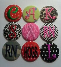 Monogrammed Badge Reel - Id Holder Personalized Clip on