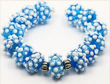 4 x handmade lampwork beads Glasperlen 16mm  LB195