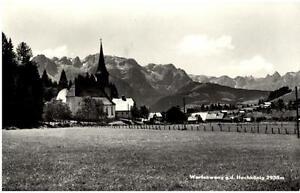 Werfenweng-Land-Salzburg-Postkarte-1961-gelaufen-Panorama-Blick-gegen-Hochkoenig