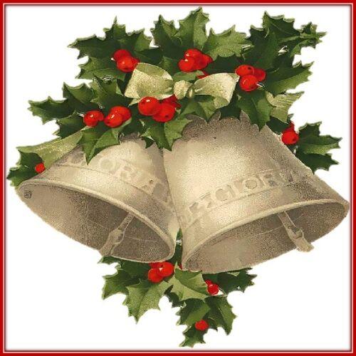 30 Custom Christmas Bells Personalized Address Labels
