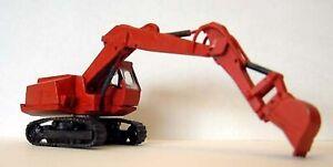 Priestman-Hydraulic-back-actor-Excavator-E33-UNPAINTED-N-Gauge-Scale-Model-Kit