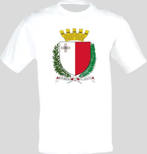 Coat of Arms Of The Malta Arms Flag T-Shirt All Sizes