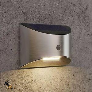 Details About 2 X Outdoor Wall Light Solar Ed Pir Motion Sensor Welcome
