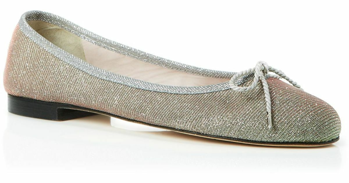 225 size 6.5 Paul Mayer Bingo Metallic Glitter Ballet Flat Slip On Womens shoes