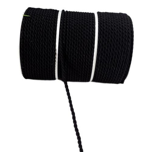 0,59€//m 2m Kordel schwarz Schleifenband 4mm Schnur gedreht Gothic Mittelalter