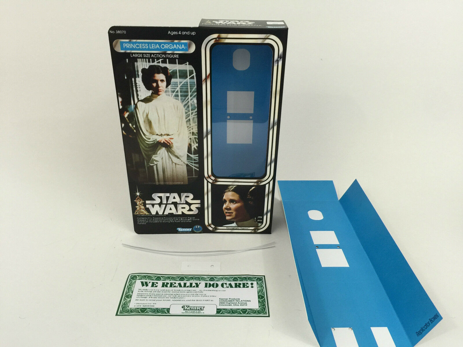 Replacement vintage Star wars 12  princess leia  box + inserts