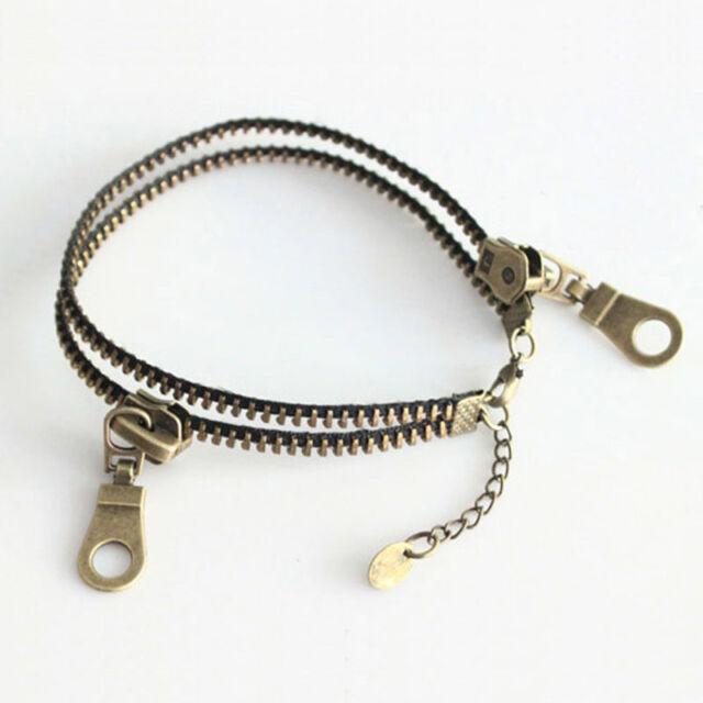 Charming Vintage Punk Metal Unique Zipper Design Cool Bracelet Popular