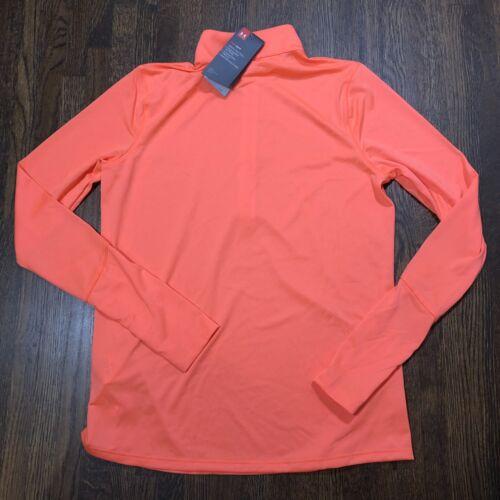 Under Armour Womens Pullover Size S M L Locker 1//2 Zip Orange Loose 1309958 NWT