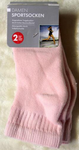 Sportsocken 2er Set Socken rosa oder hellblau Gr 35-38