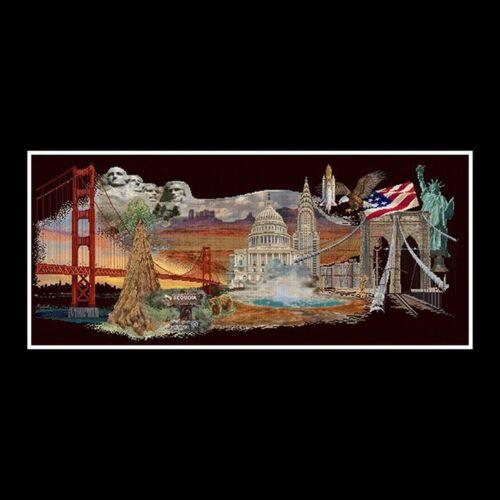 Thea Gouverneur  544.05  America  Broderie  Point de croix compté  Aida 7.2 noir