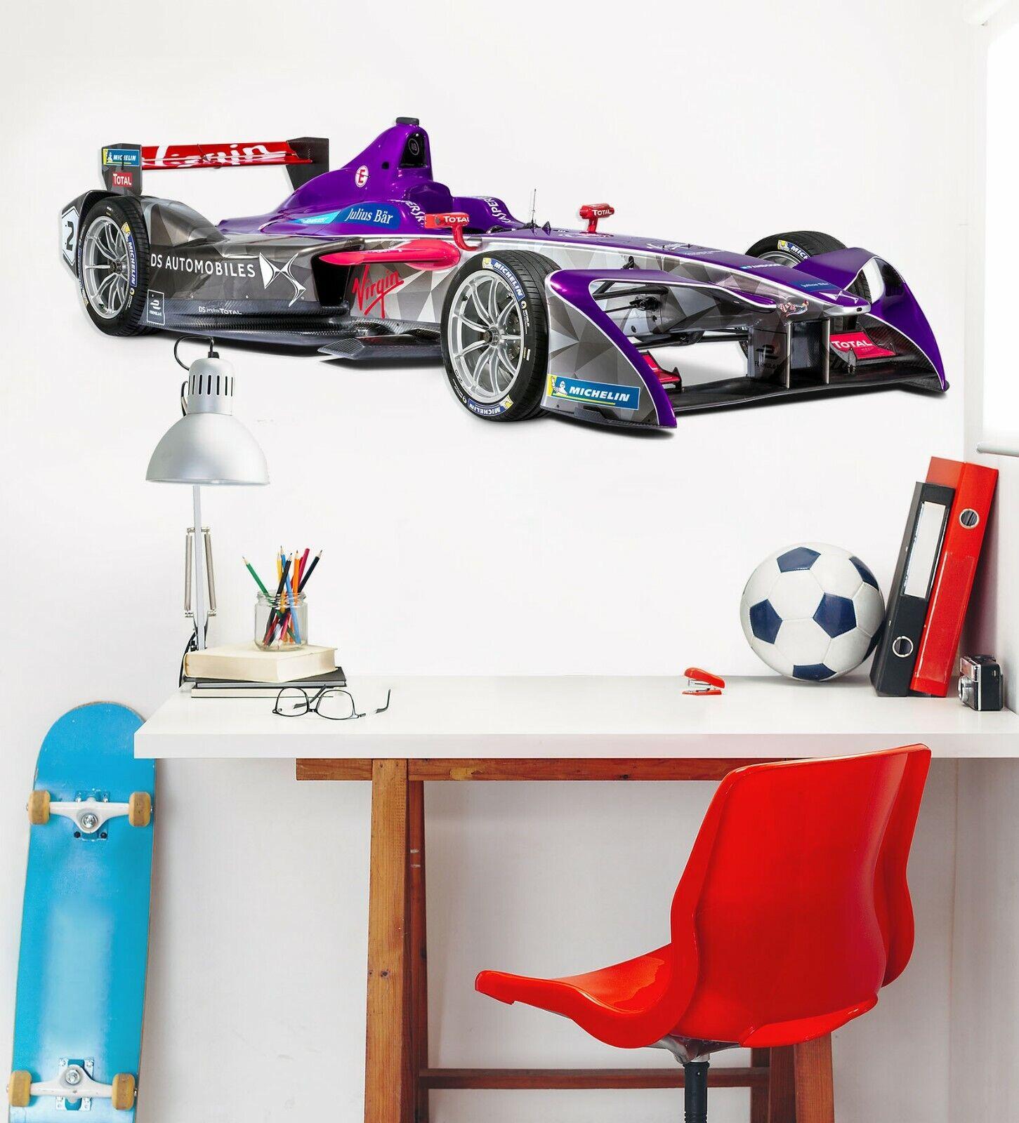 3D Formula E R8 A54 Car Wallpaper Mural Poster Transport Wall Stickers Zoe