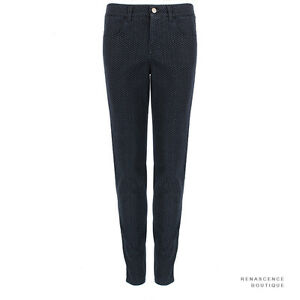 Stella-McCartney-Indigo-Blue-Grey-Tone-Dot-Pattern-Slim-Fit-Zipped-Hem-Jeans-W29