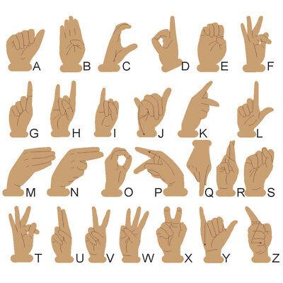 Dactylologie, alphabet en bois Langue des Signes Française (LSF), lot 26  pièces | eBay
