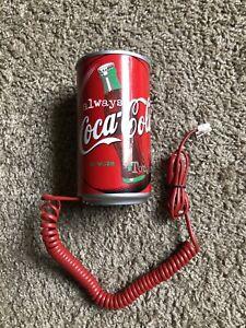 Vintage Coca Cola Coke Can Shaped Telephone Phone 1999 VTG