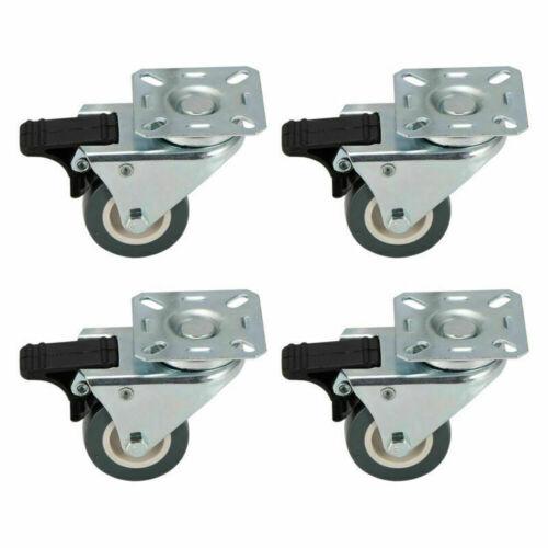 4 Stück Schwerlastrollen Set mit Bremse Rollen 50mm 360°Drehung Möbelrollen DHL