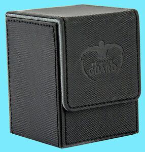 ULTIMATE-GUARD-XENOSKIN-FLIP-DECK-CASE-Standard-Size-BLACK-100-MTG-Card-Box