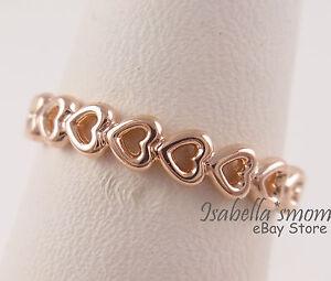 pandora rose gold love heart bracelet