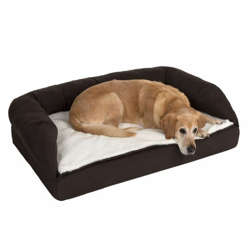 Brown Orthopaedic Dog Bed- Memory Foam Reduce Stress on Joint Non-Slip Washable