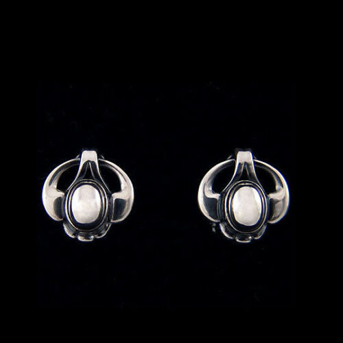 Georg Jensen Ear Clips Of The Year 2006 w Silverstone HERITAGE COLLECTION