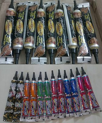 CHOOSE & BUY *** henna paste tattoo kit body art temporary paste tubes & cones