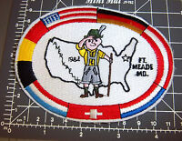 1984 Amerikaflug Hiking Embroidered Patch, Ft. Meade Maryland, Lots Of Flags